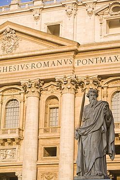 Statue of St. Paul, St. Peter's Basilica, Vatican, Rome, Lazio, Italy, Europe