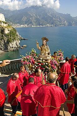St. Maria Maddalena procession, Atrani, Amalfi coast, Campania, Italy, Europe