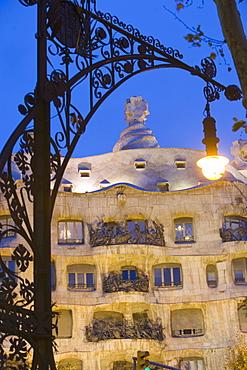 Mila La Pidrera House, Passeig de Gracia, Barcelona, Catalonia, Spain, Europe