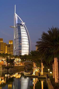 Mina A Salam resort and the iconic Burj Al Arab hotel, Dubai, United Arab Emirates, Middle East