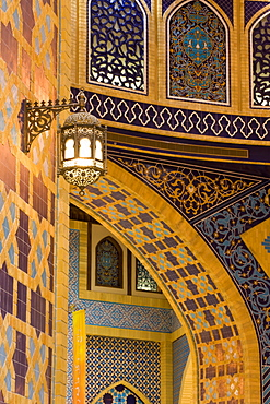 Detail of Persia Court, Ibn Battuta Shopping Mall, Dubai, United Arab Emirates, Middle East