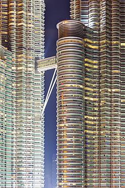 Detail view of the Petronas Twin Towers, Kuala Lumpur, Malaysia, Southeast Asia, Asia