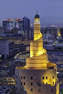 The spiral mosque of the Kassem Darwish Fakhroo Islamic Centre in Doha, Qatar, Middle East