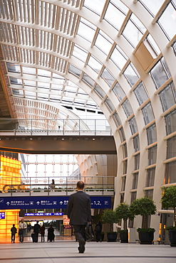 Interior view of Hong Kong International airport, Hong Kong, China, Asia