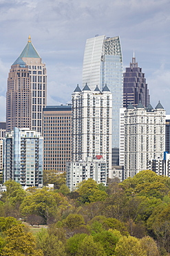 Midtown Skyline from Piedmont Park, Atlanta, Georgia, United States of America, North America