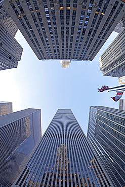 Financial district of Sixth Avenue, Manhattan, New York City, New York, United States of America, North America