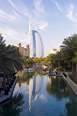 Mina A Salam resort and the iconic Burj Al Arab hotel. Dubai, United Arab Emirates, Middle East