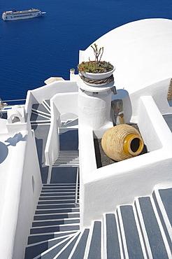 Firostefani, Santorini, Cyclades, Greek Islands, Greece, Europe