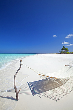 Hammock on tropical beach, Maldives, Indian Ocean, Asia