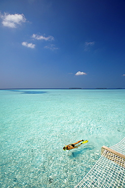 Snorkelling in the Maldives, Indian Ocean, Asia