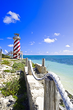 High Rock lighthouse at High Rock, Grand Bahama, The Bahamas, West Indies, Central America