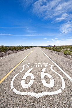 Historic Route 66 sign near Amboy, California, United States of America, North America