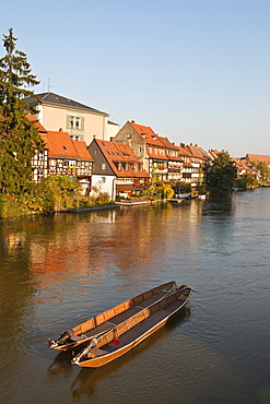 Little Venice (Klein Venedig) and River Regnitz, Bamberg, UNESCO World Heritage Site, Bavaria, Germany, Europe