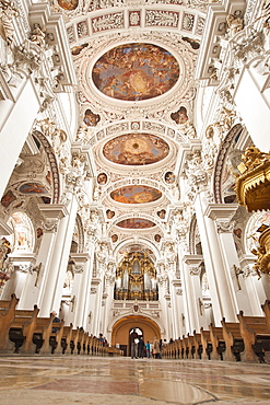 Interior of St. Stephan's Cathedral in Passau, Bavaria, Germany, Europe