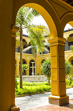 Courtyard of the Convent of Santo Domingo, Lima, Peru, South America