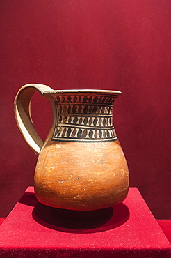 Pre-Columbian pottery in the Museum of Archaeology, Trujillo, Peru, South America