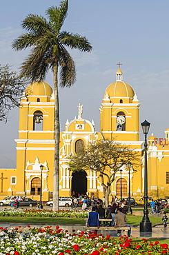 Cathedral of Trujillo from Plaza de Armas, Trujillo, Peru, South America