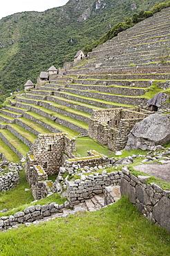 Machu Picchu, UNESCO World Heritage Site, near Aguas Calientes, Peru, South America