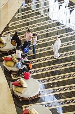 Lobby of the Raffles Dubai Hotel, Dubai, United Arab Emirates, Middle East