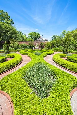 Gardens at the Tryon Palace, New Bern, North Carolina, United States of America, North America