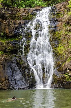 Waimea Falls, Waimea Valley Audubon Park, North Shore, Oahu, Hawaii, United States of America, Pacific