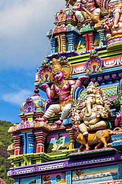 The Arul Mihu Navasakthi Vinayagar Hindu Temple, Victoria, Mahe, Republic of Seychelles, Indian Ocean, Africa