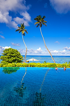 The pool at the Hilton's DoubleTree Resort and Spa, Mahe, Republic of Seychelles, Indian Ocean, Africa