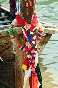 Adorned fishing boats on Ko Phi Phi Island, Andaman Sea, Thailand, Southeast Asia, Asia