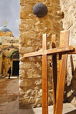 Stations of the Cross on Via Dolorosa, Old City, Jerusalem, Israel, Middle East