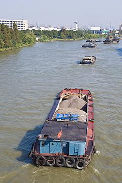 Barges on the Grand Canal, Suzhou, Jiangsu, China
