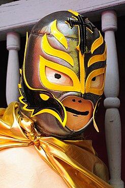 Mexico, Bajio, Queretaro, Lucha libre or wrestling mask.