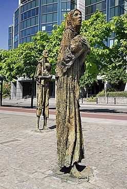 Ireland, County Dublin, Dublin City, The famine memorial presented to the city in 1997.