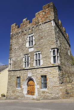 Ireland, County Cork, Kinsale, Exterior of the 16th century Desmond castle.