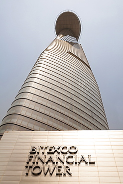 Vietnam, Ho Chi Minh City, Bitexco Financial Tower modern office block.