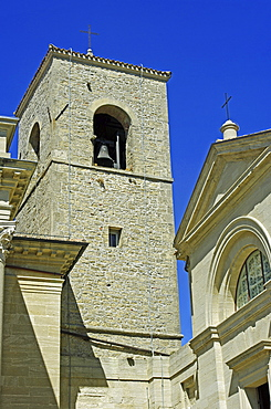 Republic of San Marino, San Marino City, Cathedral Bell Tower.