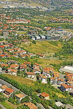 Republic of San Marino, San Marino City, Elevate view over City.