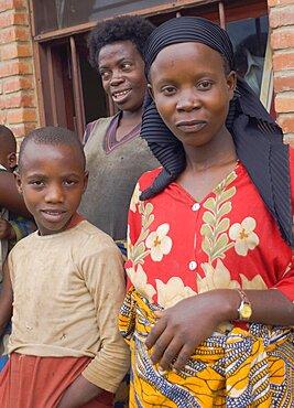 Burundi, Cibitoke Province, Mabayi, Mothers waiting at Health Clinic.