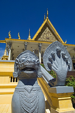 Cambodia, Phnom Penh, The Throne Hall within the grounds of the Royal Palace.