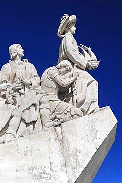 Portugal, Estremadura, Lisbon, Padrao dos Descobrimentos Carving of Prince Henry the Navigator leading the Discoveries Monument.