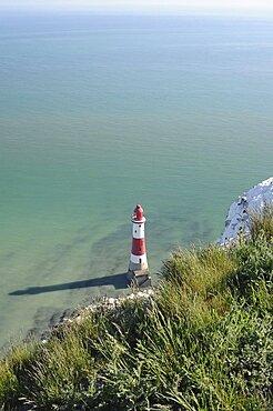England, East Sussex,, Eastbourne, Beachy Head Lighthouse.