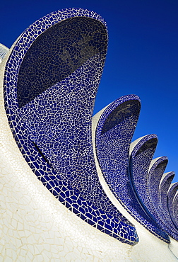 Spain, Valencia Province, Valencia, Spain, Valencia Province, Valencia, La Ciudad de las Artes y las Ciencias, City of Arts and Sciences, Arches of the Umbracle sculpture garden.