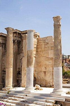 Greece, Attica, Athens, Hadrian's Library.