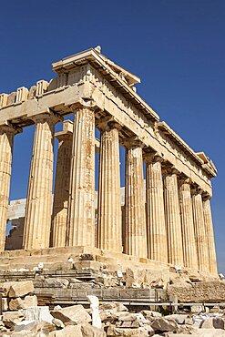 Greece, Attica, Athens, The Parthenon at the Acropolis