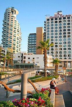 Israel, Tel Aviv, Park Plaza Orchid on Gordon Beach, Ha'yarkon Street.