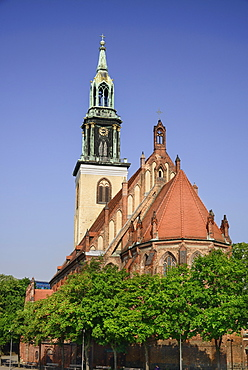 Germany, Berlin, Marienkirche, St Marys Church dating from the 13th Century.
