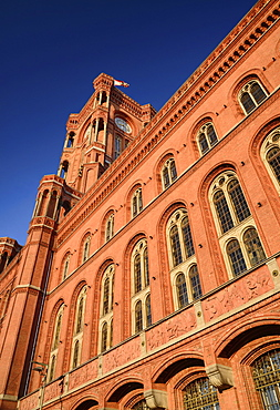 Germany, Berlin, Rotes Rathaus, The Red Town Hall.