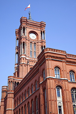 Germany, Berlin, Mitte, Rotes Rathaus, or Red Town Hall building.