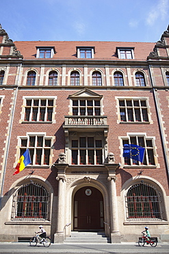 Germany, Berlin, Mitte, Exterior of the Romanian Embassy in Dorotheenstrasse.