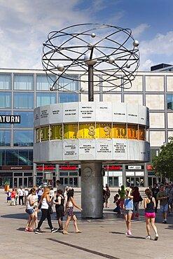 Germany, Berlin, Mitte, Alexanderplatz, the World Clock.