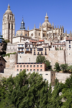 Spain, Castille-Leon, Segovia, The Cathedral.